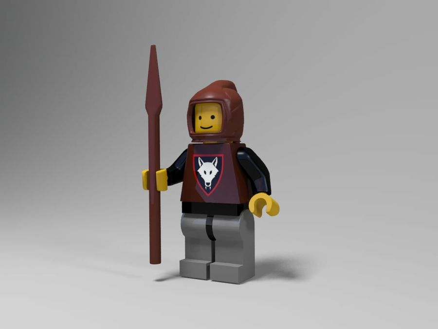 Medeltida lego karaktärer royalty-free 3d model - Preview no. 19