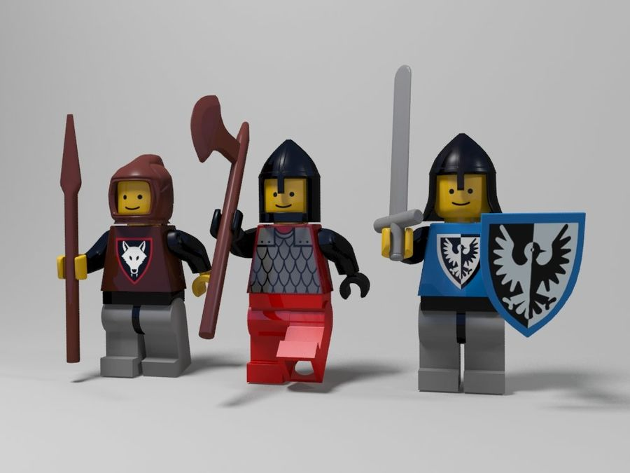 Medeltida lego karaktärer royalty-free 3d model - Preview no. 1
