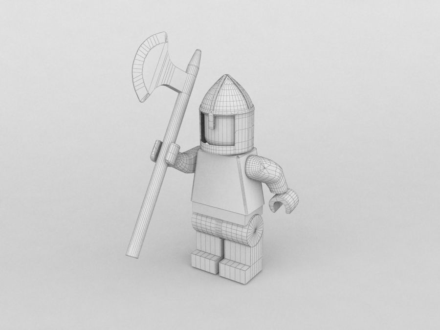 Medeltida lego karaktärer royalty-free 3d model - Preview no. 10
