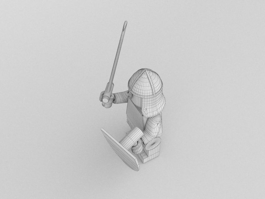 Medeltida lego karaktärer royalty-free 3d model - Preview no. 18