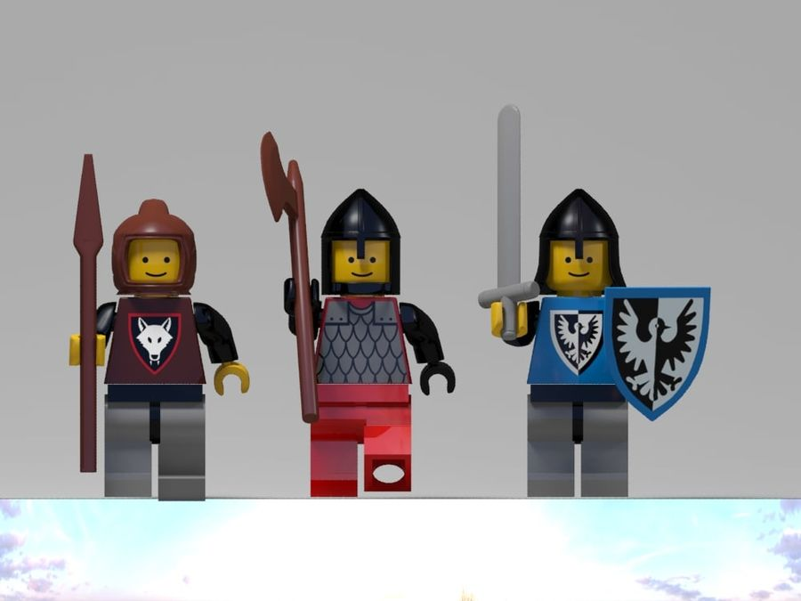Medeltida lego karaktärer royalty-free 3d model - Preview no. 6