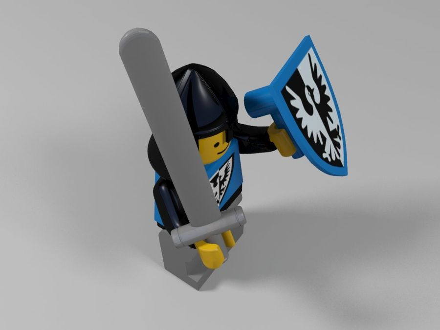 Medeltida lego karaktärer royalty-free 3d model - Preview no. 15