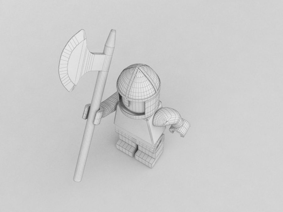 Medeltida lego karaktärer royalty-free 3d model - Preview no. 12