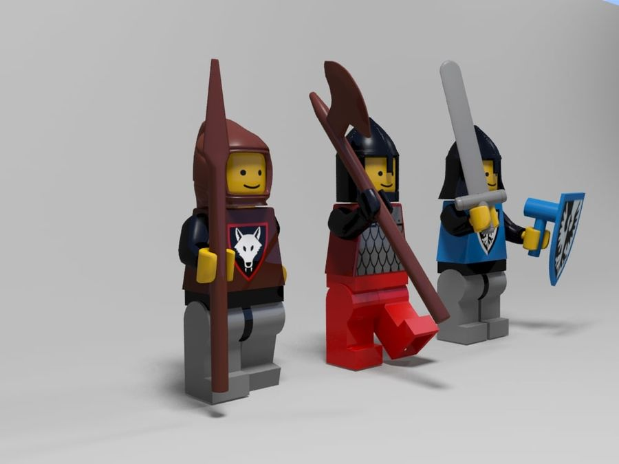 Medeltida lego karaktärer royalty-free 3d model - Preview no. 2