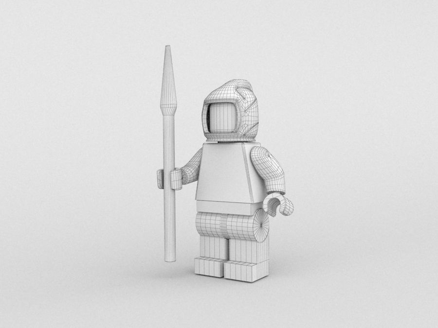 Medeltida lego karaktärer royalty-free 3d model - Preview no. 25
