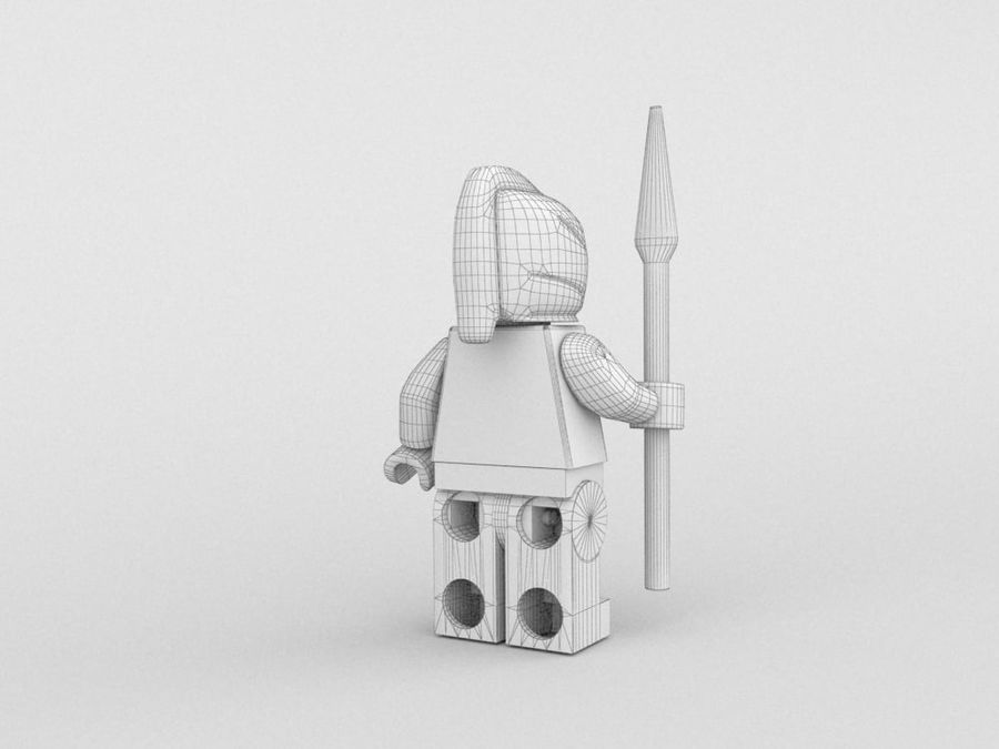 Medeltida lego karaktärer royalty-free 3d model - Preview no. 26