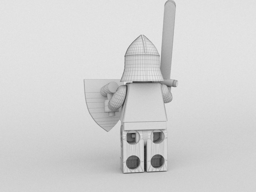 Medeltida lego karaktärer royalty-free 3d model - Preview no. 17
