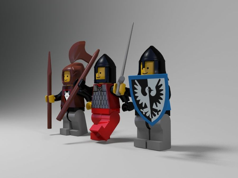 Medeltida lego karaktärer royalty-free 3d model - Preview no. 5