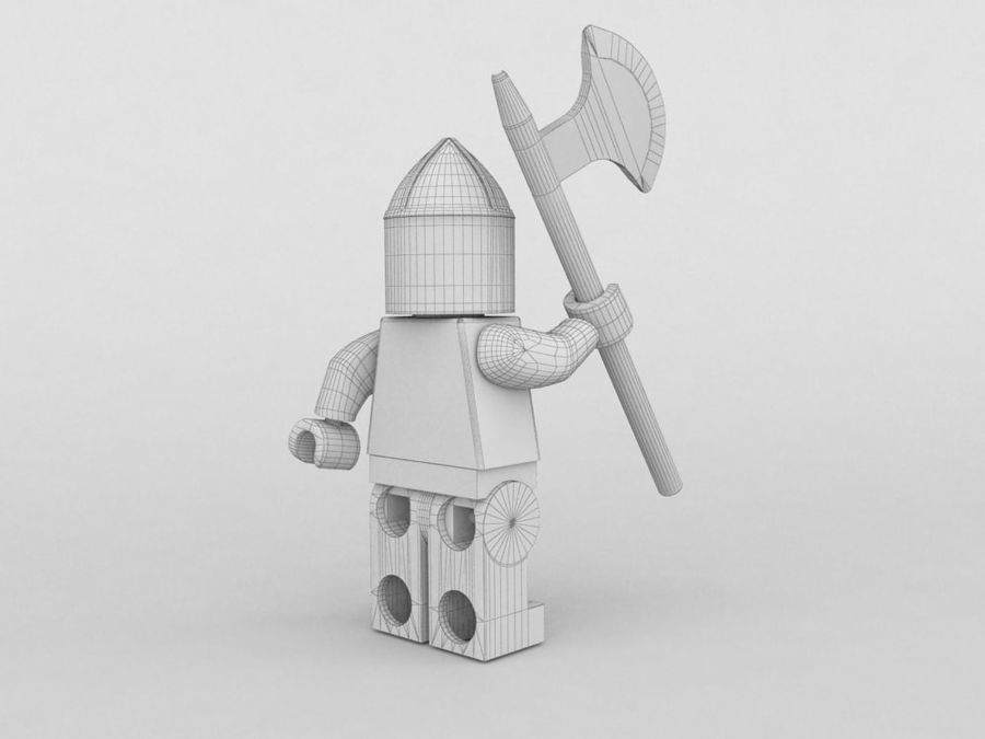 Medeltida lego karaktärer royalty-free 3d model - Preview no. 11