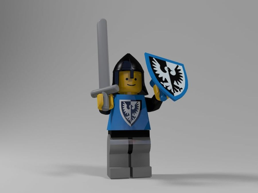 Medeltida lego karaktärer royalty-free 3d model - Preview no. 13