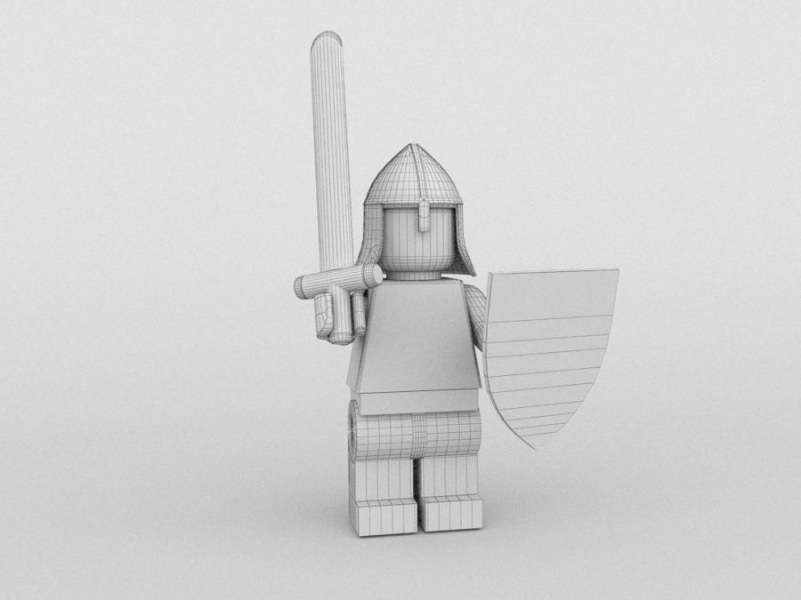 Medeltida lego karaktärer royalty-free 3d model - Preview no. 16