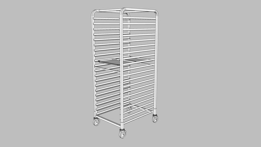 Sheet Tray Rack With Trays: Restaurant Style royalty-free 3d model - Preview no. 10