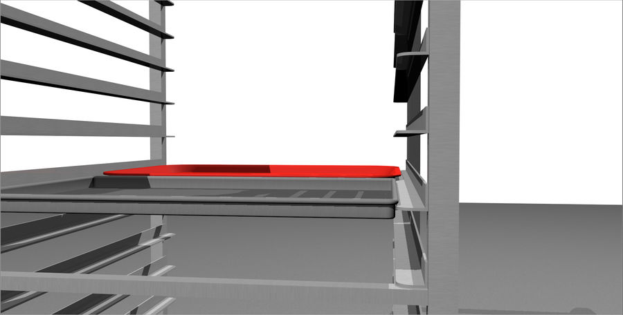 Sheet Tray Rack With Trays: Restaurant Style royalty-free 3d model - Preview no. 9