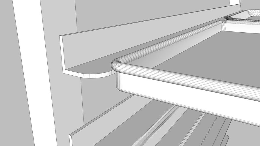 Sheet Tray Rack With Trays: Restaurant Style royalty-free 3d model - Preview no. 17