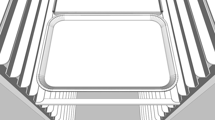 Sheet Tray Rack With Trays: Restaurant Style royalty-free 3d model - Preview no. 19
