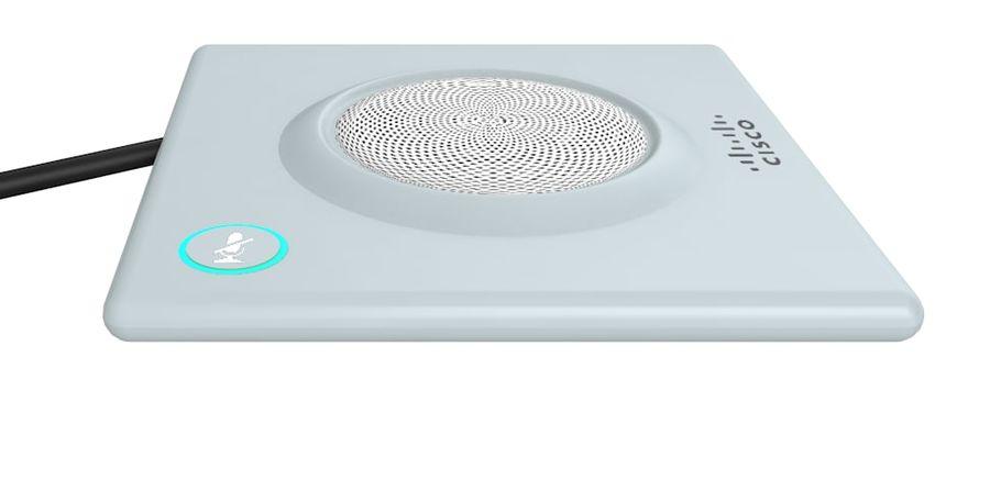 Telefone com alto-falante da Cisco royalty-free 3d model - Preview no. 4