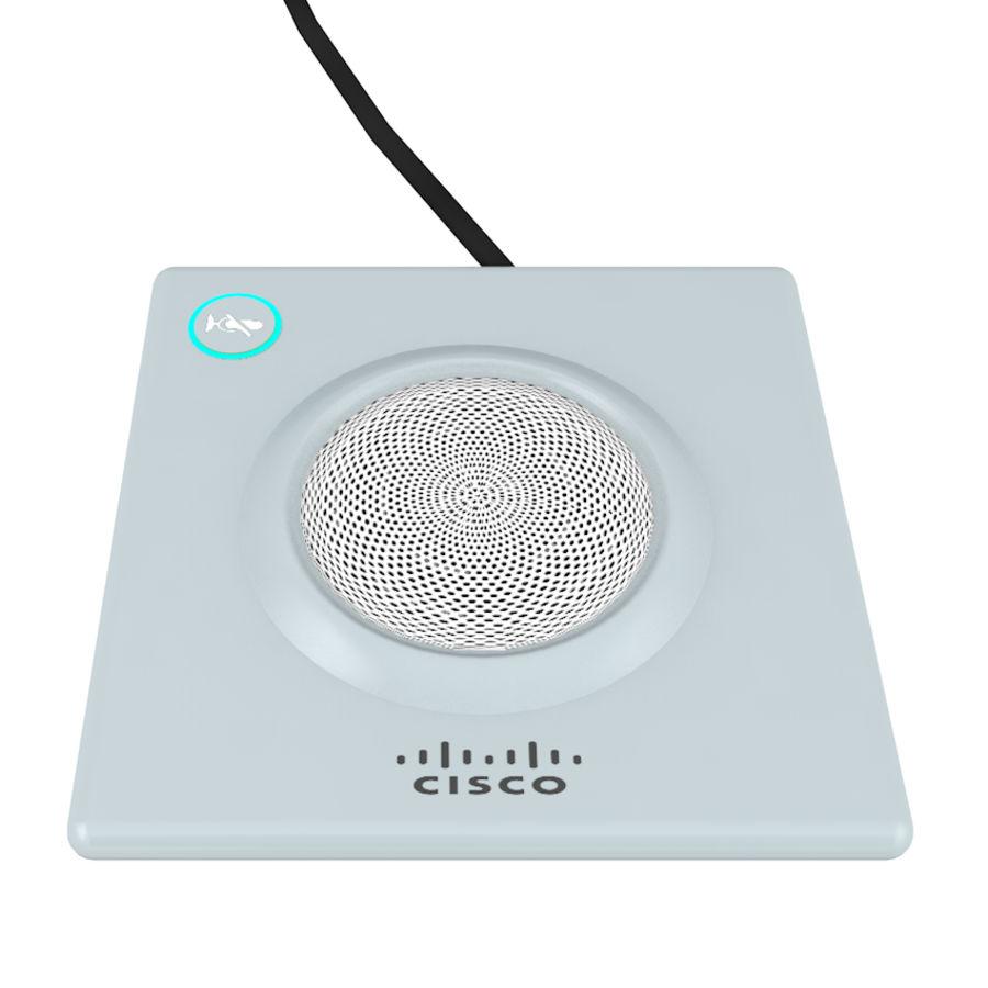 Telefone com alto-falante da Cisco royalty-free 3d model - Preview no. 3