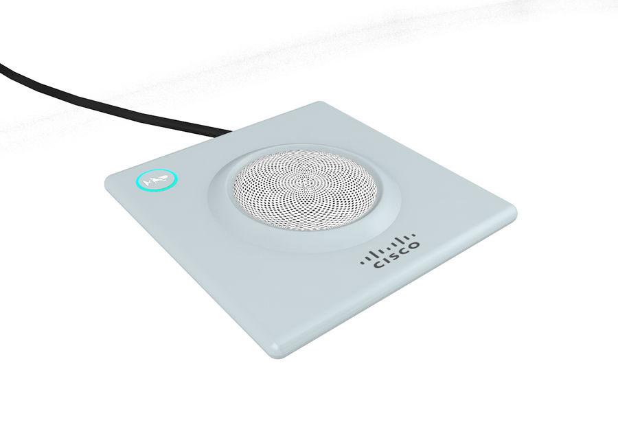 Telefone com alto-falante da Cisco royalty-free 3d model - Preview no. 2