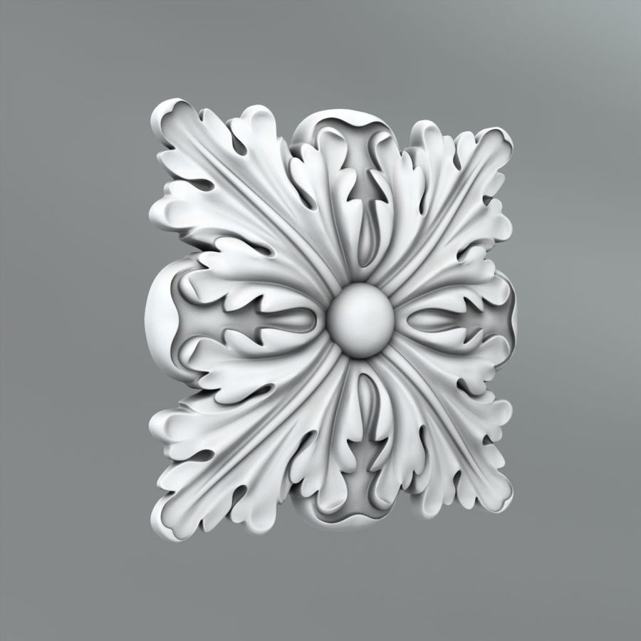 Square Decoration royalty-free 3d model - Preview no. 1