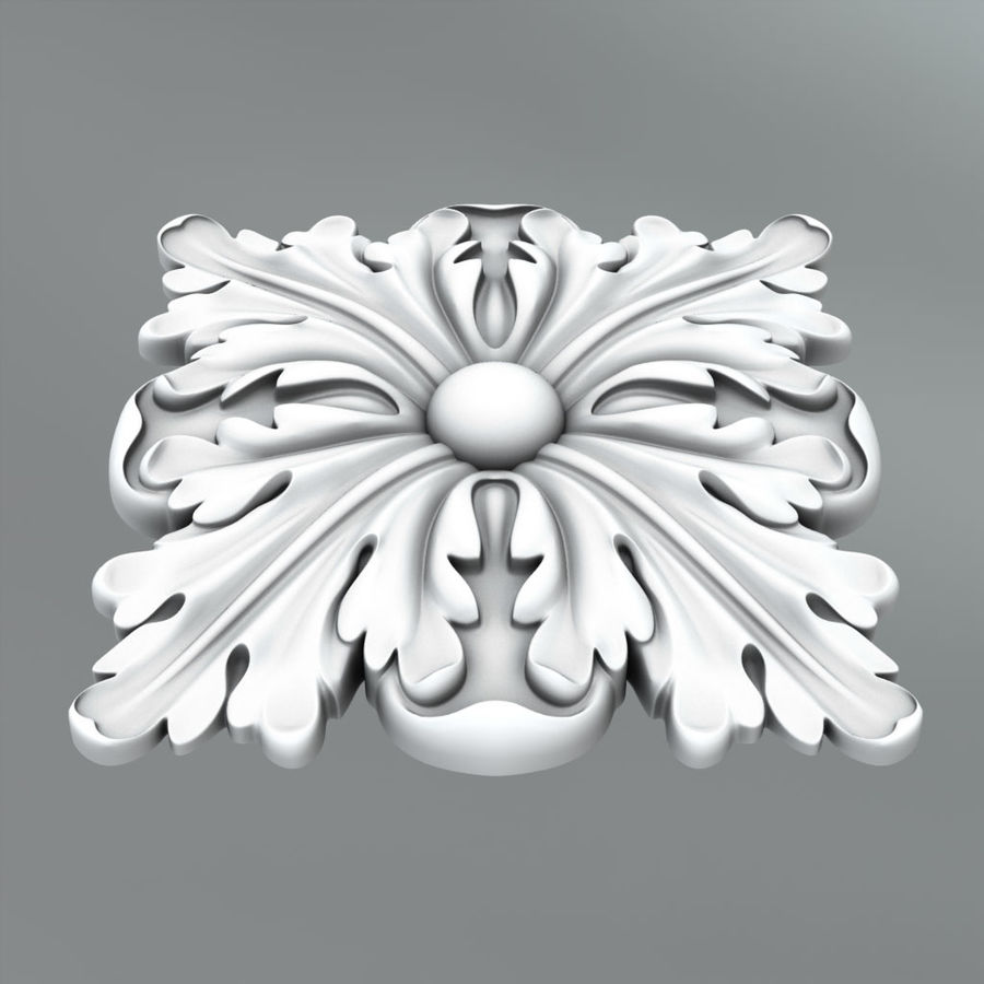 Square Decoration royalty-free 3d model - Preview no. 3