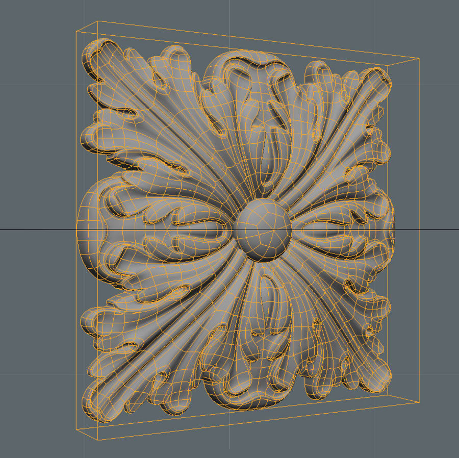 Square Decoration royalty-free 3d model - Preview no. 4