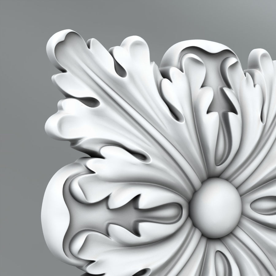Square Decoration royalty-free 3d model - Preview no. 2