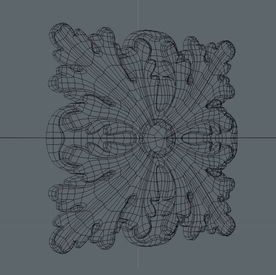 Square Decoration royalty-free 3d model - Preview no. 5