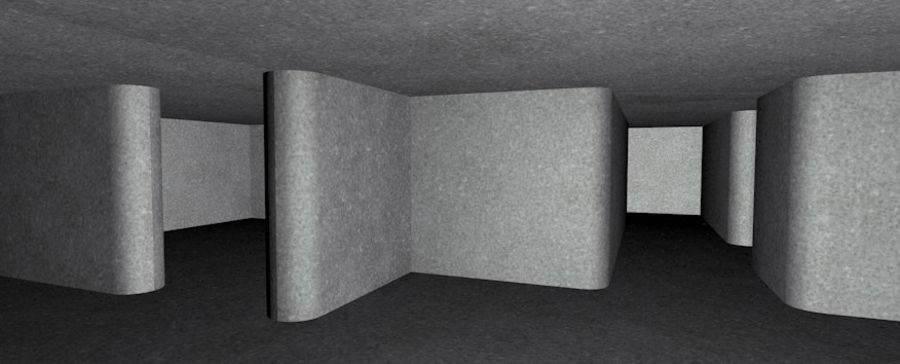 WW2 Bunker, 2 levels, 5 rooms, (Low Poly) royalty-free 3d model - Preview no. 13