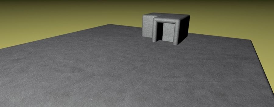 WW2 Bunker, 2 levels, 5 rooms, (Low Poly) royalty-free 3d model - Preview no. 7