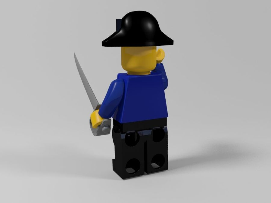 Pirates lego karaktärer royalty-free 3d model - Preview no. 7