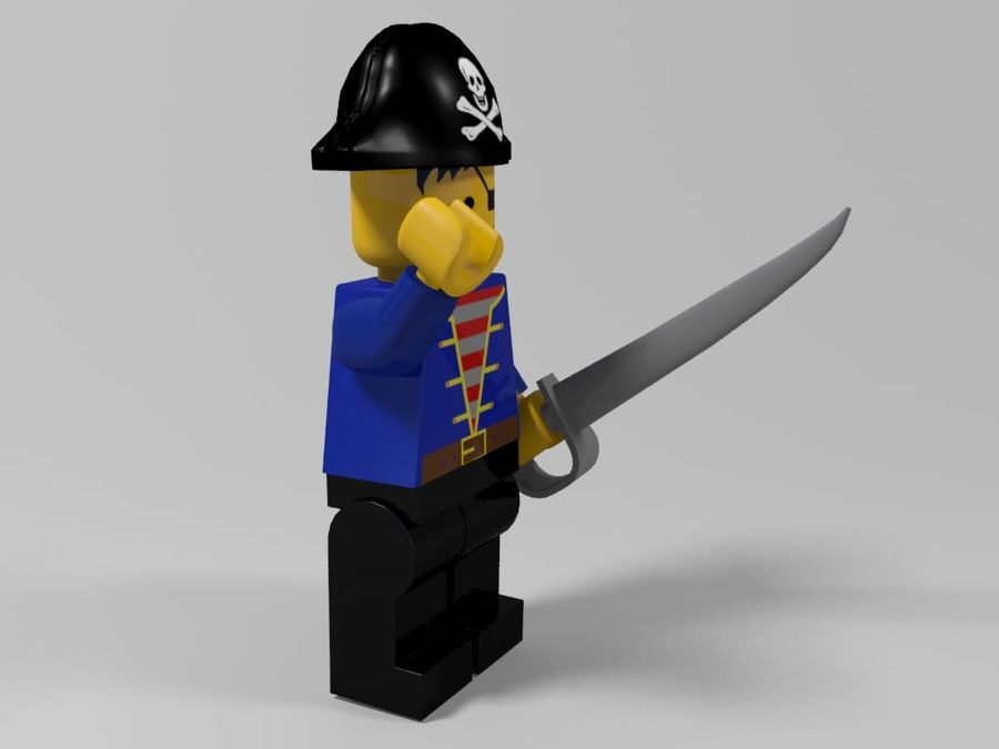 Pirates lego karaktärer royalty-free 3d model - Preview no. 8