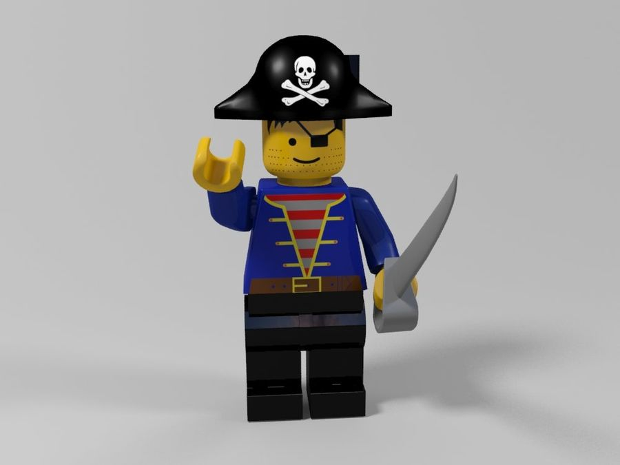 Pirates lego karaktärer royalty-free 3d model - Preview no. 5