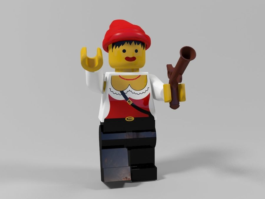 Pirates lego karaktärer royalty-free 3d model - Preview no. 23