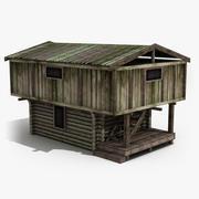 Vecchio fienile in legno 3d model