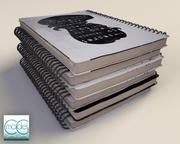 pilha de notebook 3d model