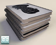 notebook stack 3d model
