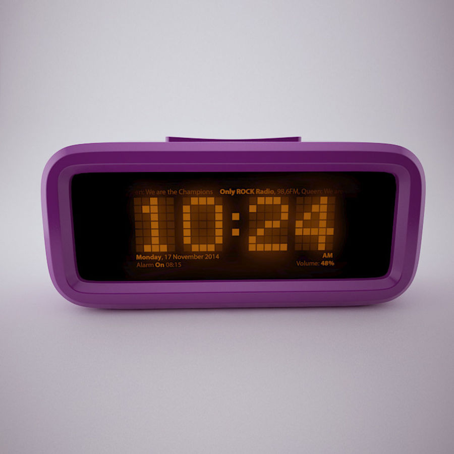 Digital Alarm Clock royalty-free 3d model - Preview no. 4