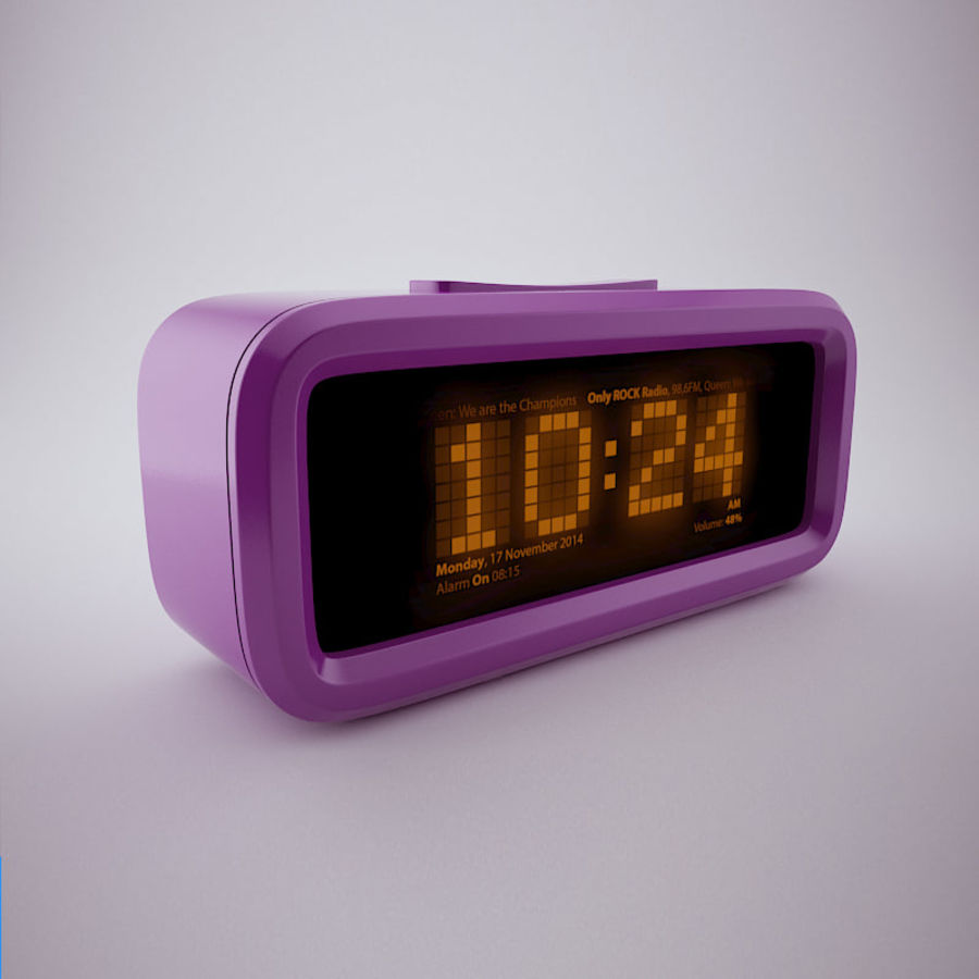 Digital Alarm Clock royalty-free 3d model - Preview no. 2