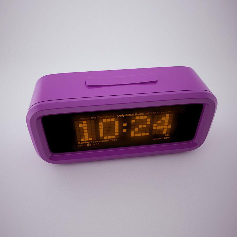 Digital Alarm Clock royalty-free 3d model - Preview no. 5