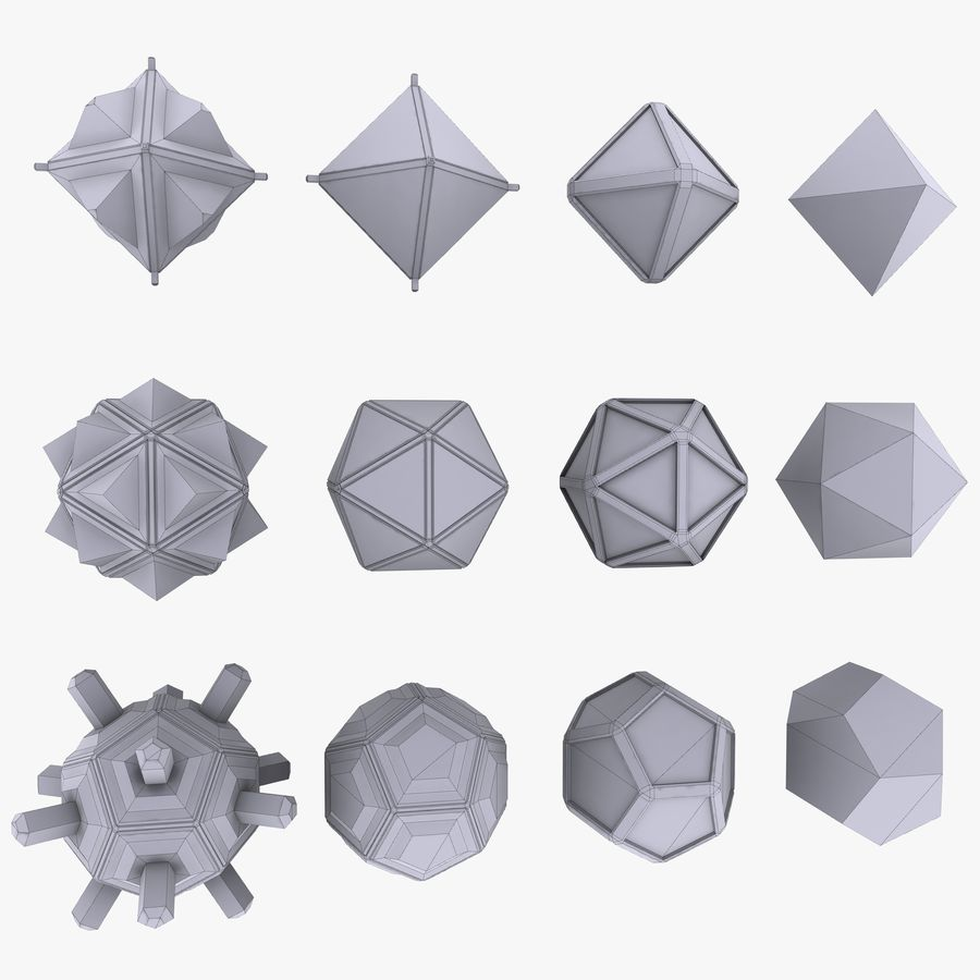 Geometric Shape MHT-01 royalty-free 3d model - Preview no. 5