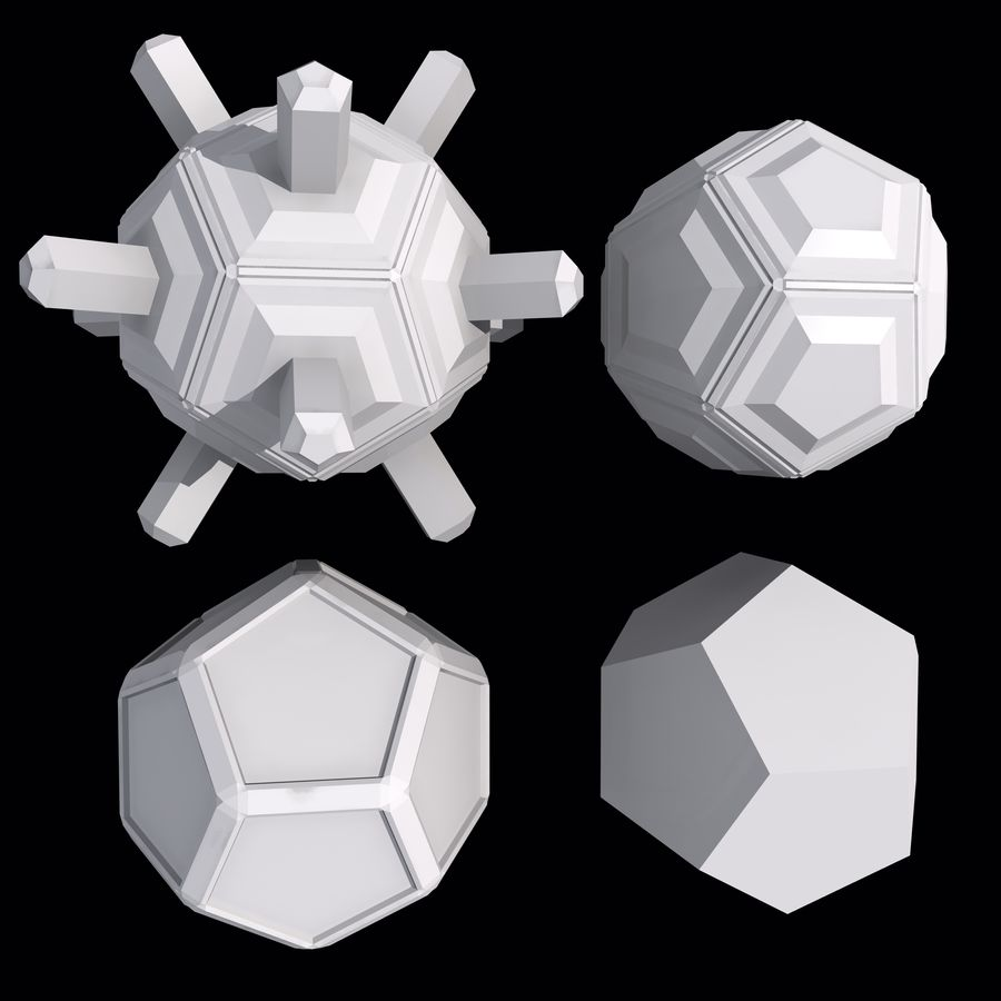 Geometric Shape MHT-01 royalty-free 3d model - Preview no. 4