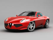 Alfa Romeo Disco Volante Touring 2013 RED 3d model