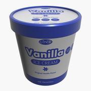 Ice Cream Pot Vanilla 3d model