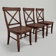 Cross-Back Chair 3d model