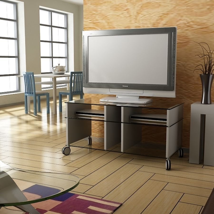 TV 룸 royalty-free 3d model - Preview no. 1
