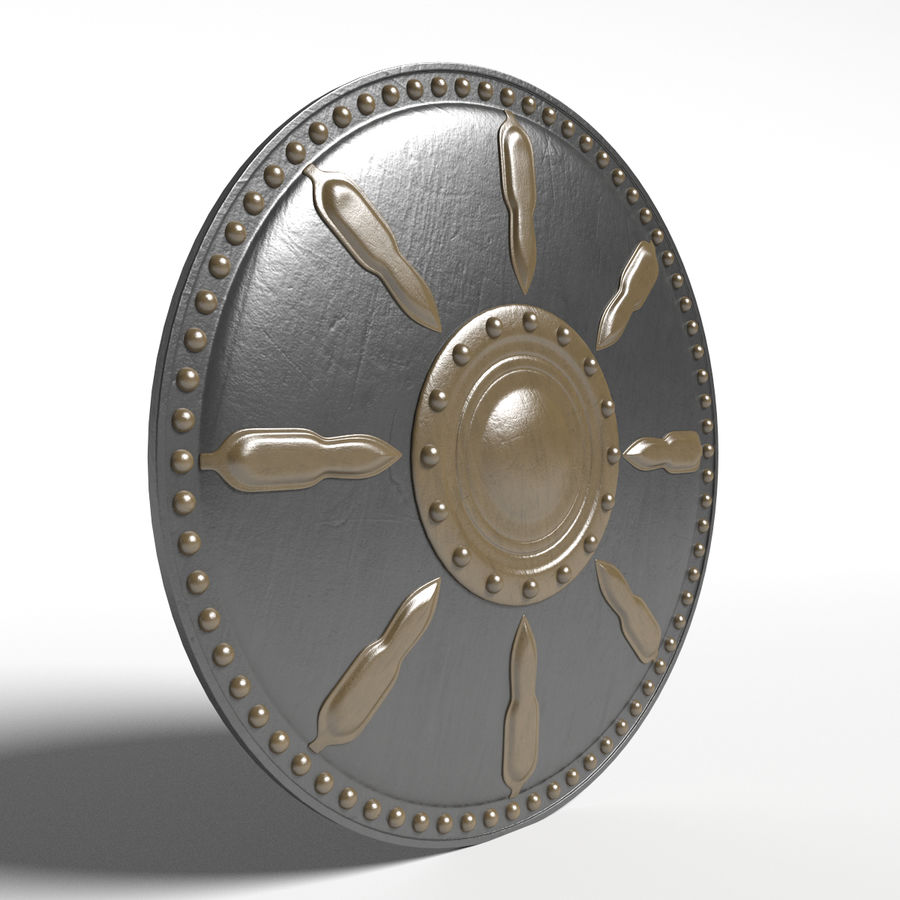 Gladiator Shield royalty-free 3d model - Preview no. 1