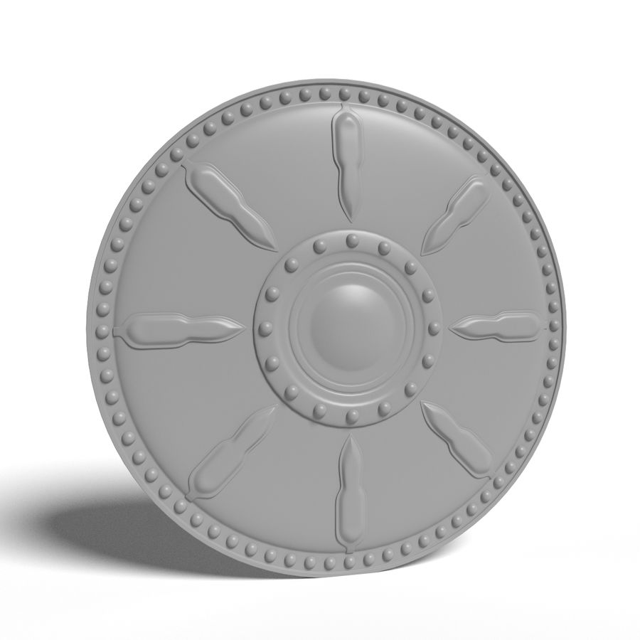 Gladiator Shield royalty-free 3d model - Preview no. 5