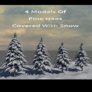 Pine Trees Covered With Snow 3d model