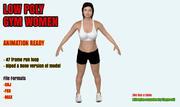 Modello di palestra femminile basso poli 3D 3d model