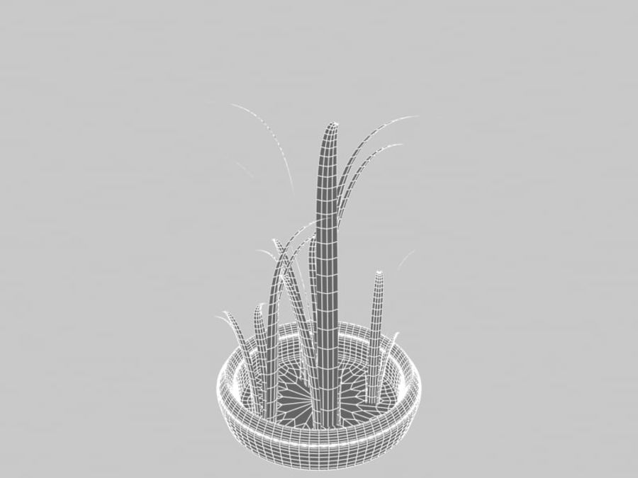 Grass Blades royalty-free 3d model - Preview no. 6